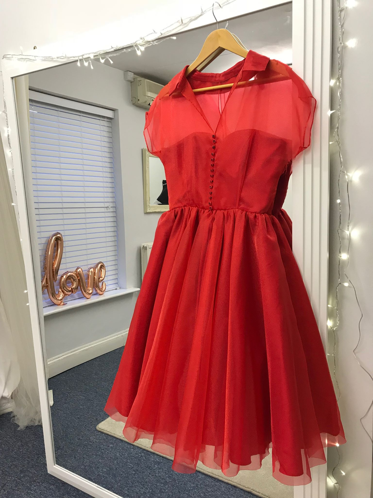 Fancy red dress