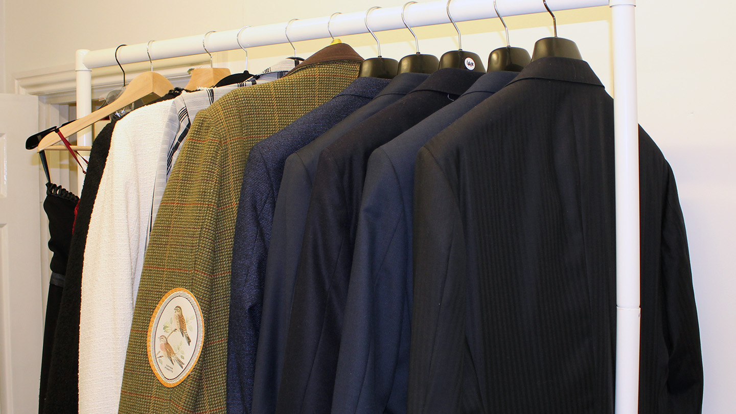 Suit jackets hanging
