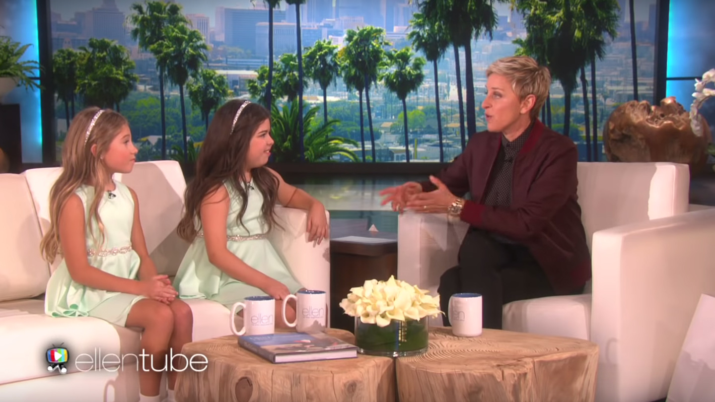 Sophia Grace ad Rosie appear on The Ellen Show